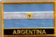 Argentina Embroidered Flag Patch, style 09.